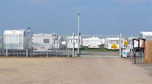 Caravans in secure storage