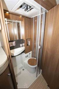 The washroom in the C-tourer © Warners Group Publications