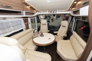 A view of the interior in the Carthago E-line I 50 LE motorhome
