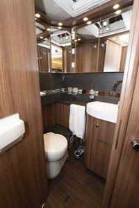 The washroom in the Carthago E-line I 50 LE motorhome