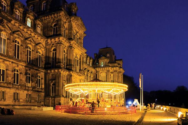 The merry-go-round on The Bowes Museum's terrace - picture courtesy of Felicity Martin