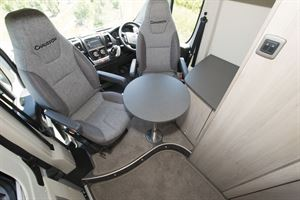Cab seats in the Chausson 33 Line V594 motorhome