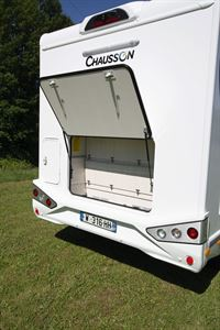 The garage in the Chausson 520 motorhome