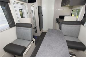 An interior view of the Chausson 520 motorhome