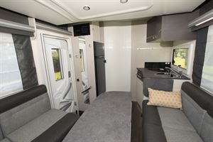 The lounge in the Chausson 520 motorhome