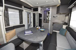 A view of the interior of the Chausson 520 motorhome