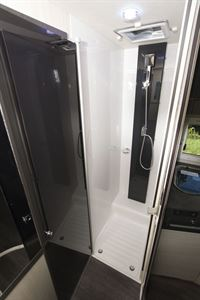 The shower in the Chausson 520 motorhome