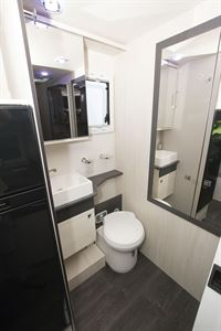 The washroom in the Chausson 520 motorhome