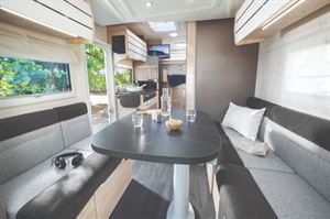 Chausson 644 Motorhome Interior with Bed Layout