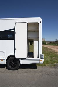 The garage in the Chausson 650 motorhome