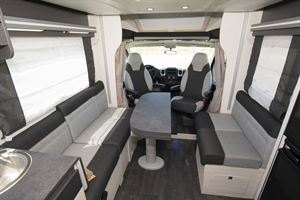 View from the rear to the front of the Chausson 650 motorhome