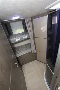 Bunk beds in the Chausson 720 motorhome