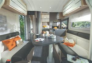 Chausson 788 interior withIsland Bed Layout