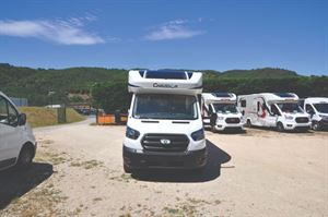 Chausson Ford First Line Motorhome Transverse Bed Layout