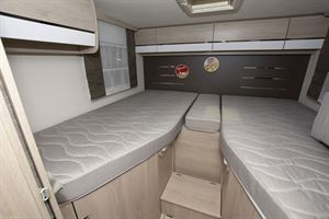 Single beds in the  Chausson C717GA motorhome