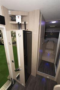 The habitation door in the Chausson C717GA motorhome