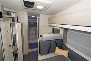 The interior of the Chausson C717GA motorhome
