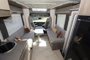 The interior of the Chausson 720 motorhome
