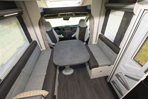 A closer look at the lounge in the Chausson 520 motorhome