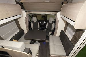 The lounge in the Chausson C717GA motorhome