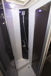 The shower in the Chausson C717GA motorhome