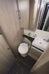 The washroom in the Chausson C717GA motorhome