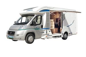 The lift-up side option in the 2013 Chausson Suite model