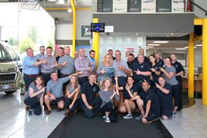 Choose Leisure staff celebrate win of People & Culture Award