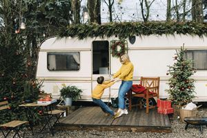 Could you spend Christmas in a caravan? Picture courtesy of Alamy