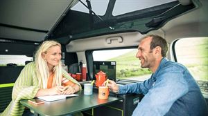 Citroen's new campervan concept has a basic kitchen and foldaway table