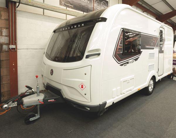 The Coachman VIP 460 caravan