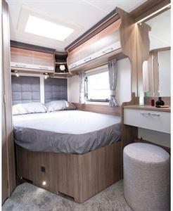 The Coachman VIP 540 Xtra caravan bedroom area
