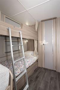 Bunk beds in the Coachman Acadia Xcel 830 caravan