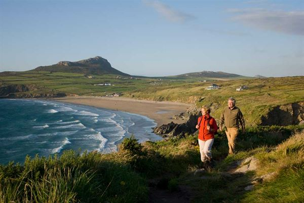 Walking the coastal path at Whitesands Bay, Pembrokeshire (pic courtesy Visit Britain)