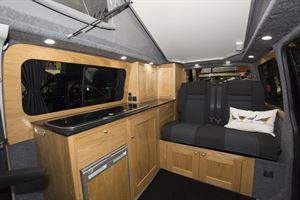 Inside the Rolling Homes Columbus S campervan