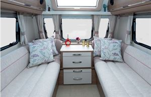 The lounge in the Compass Camino 660