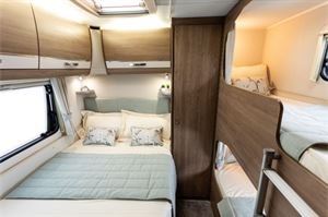 The bedroom with bunks