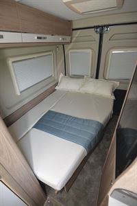 Rear lounge converted to beds in the Compass Avantgarde CV60 campervan