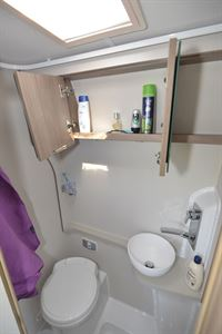 The washroom in the Compass Avantgarde CV60 campervan