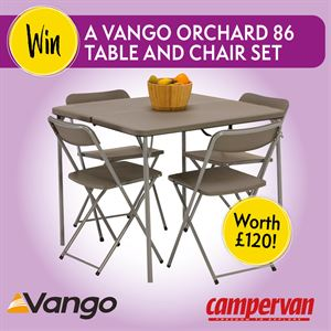 Win a Vango Orchard 86 Table and Chairs Set, worth £120!
