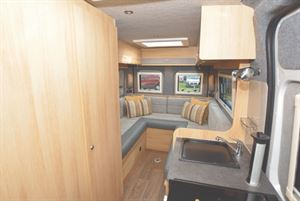 Consort Wave Motorhome interior with rear lounge layout
