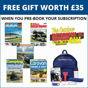 Pre-book your three issues for £5 subscription and get a free gift worth £35!
