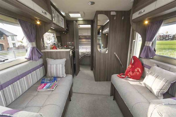The spacious lounge in the Auto-Sleeper Corinium RB © Warners Group Publishing, 2019