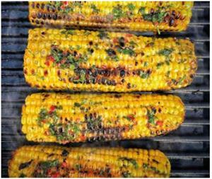 Sweetcorn with chilli butter (photo courtesy of Campingaz)