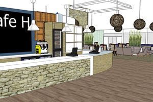 Artist's impression of the new cafe for three of the Hoburne parks