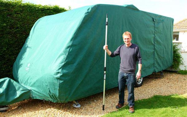 Fitting a caravan cover