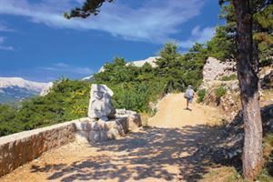 Walking on Krk island in Croatia