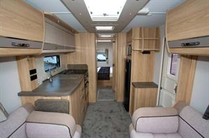 Elddis Crusader Zephyr lounge to rear