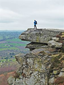 One of the rock overhangs on Curbar Edge