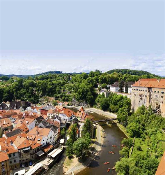 The view from Cesky Krumlov castle tower - picture courtesy of Felicity Martin